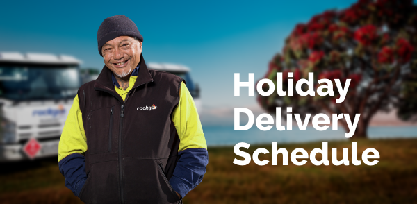 holiday delivery schedule for lpg