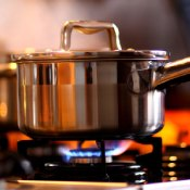 pan on gas stovetop-gas for home heating-Rockgas North